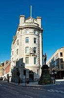 Cross house and Joseph Cowan statue Newcastle City centre.