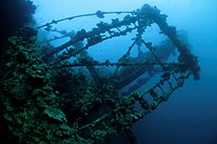 Structures of Umbria Wreck, Wingate Reef, Red Sea, Sudan