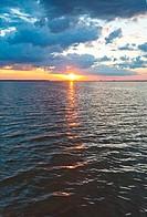 Lake sunset view