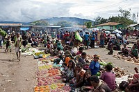 Market of Wamena, Baliem Valley, West Papua, Indonesia