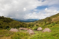 Traditional Dani Village at Baliem Valley, West Papua, Indonesia