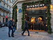 Paris, France, Luxury Christmas Shopping, Givenchy Clothing Store