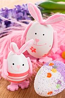 Easter rabbit egg decoration