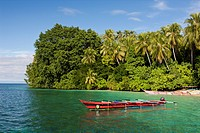 Lagoon of Ahe Island, Cenderawasih Bay, West Papua, Indonesia