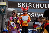 victory ceremony skiing school St. Oswald