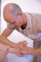 Rolfing , feet massage