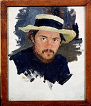Self-portrait. Kalinichenko, Jakov Jakovlevich (1869-1938). Oil on canvas. Russian Painting, End of 19th - Early 20th cen. . 1897. State Regional I. P...