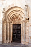 Portal of Cathedral of St. Anastasia, Zadar, Zadar county, Croatia