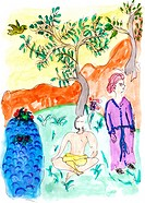 illustration _ symbol _ art _ painting _ yoga _ stress relaxation