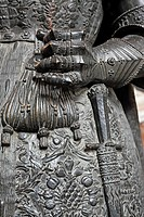 Bronze statue 16 century, Hofkirche, Innsbruck, Tyrol, Austria