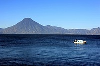Atitlan lake and volcan San Pedro 3019 m, Guatemala