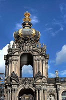 The Zwinger, Crown Gate Kronentor, Dresden, Saxony, Germany