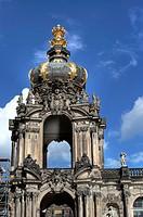 The Zwinger, Crown Gate Kronentor, Dresden, Saxony, Germany