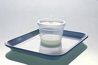 Cup with sperm liquid _ sperms sperm sperms