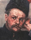 Stepan Razin (Study). Surikov, Vasili Ivanovich (1848-1916). Oil on canvas. Russian Painting, End of 19th - Early 20th cen. . 1909. State Russian Muse...
