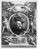 King Wladyslaw IV Vasa of Poland (1595-1648), Tsar of Russia. Vorstermann, Lucas (1595-1667). Etching. Baroque. State History Museum, Moscow. Graphic ...