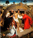 The Entombment of Christ. Weyden, Rogier, van der (ca. 1399-1464). Oil on wood. Early Netherlandish Art. ca 1460. Galleria degli Uffizi, Florence. 110...