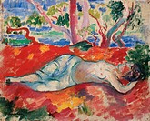 A Sleeping Woman (La Femme Endormie). Manguin, Henri Charles (1874-1949). Oil on canvas. Postimpressionism. 1906. Private Collection. Painting. © VG-B...