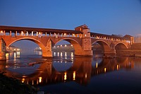 The old covered bridge, Pavia, Italy
