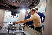 Teacher and students do their training center 3-axis machining, Applied Mechanics, Tecnun, School of Engineering of San Sebastian, University of Navar...