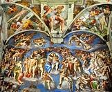 Rome, Italy  Vatican Museums, Sistine Chapel  The Last Judgement by Michelangelo