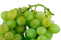 A Isolated bunch of green grapes