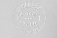 A New Jersey notary stamp for Jane Doe