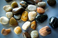Pebbles in different colors