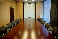 the empty meeting room