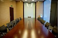 the empty meeting room