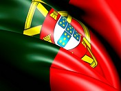 Flag of Portugal. Close up.