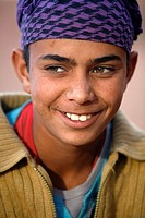 Portrait of a young bedouin man, Petra, Jordan