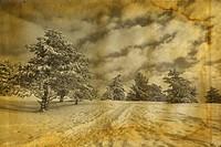 Winter retro photo