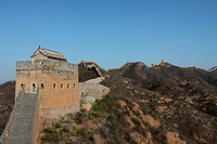 the fort of The Great Wall on the mountains