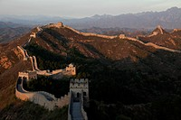 an airscape of the winding Great Wall