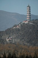 a pagoda on the hill