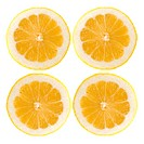 Four fresh lemon halves