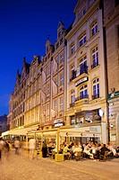 Europe, Poland, Silesia, Wroclaw, Rynek, Old Town Square, Restaurants