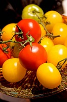 Colorful Tomatoes on Plate