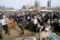 The cattle Sunday market in Kashgar  Xinjiang, China