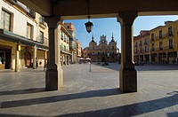 Town Hall on Plaza Mayor (main square), Astorga, Silver Route, Leon province, Castilla y Leon, Spain
