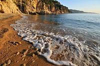 Cala Futadera at sunrise, Tossa de Mar, Costa Brava, Catalonia, Spain, Europe
