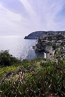 ITALY, Campania, Ischia island, S.Angelo, view of S.Angelo rocky coast