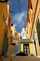 street in Symi, Greece