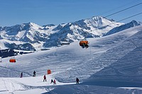 Mountain, mountains, winter sports, canton Bern, Bernese Oberland, Switzerland, Europe, mountain railway, ski, skiing, chairlift, chair lift, Gstaad, ...