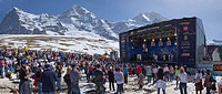 Mountain, mountains, mountain railway, culture, event, canton Bern, Bernese Alps, Switzerland, Europe, Bernese Oberland, Jungfrau, Alps, monk, Mönch, ...