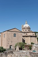 View of Church of Santi Luca e Martina, Roma, Lazio, Italy