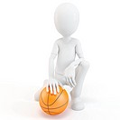 3d man with basketball