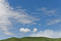 landscape of mountain with blue sky, Serdar, Garze Tibetan Autonomous Prefecture, Sichuan, China, Asia