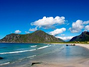 Picturesque landscape at Norway beach